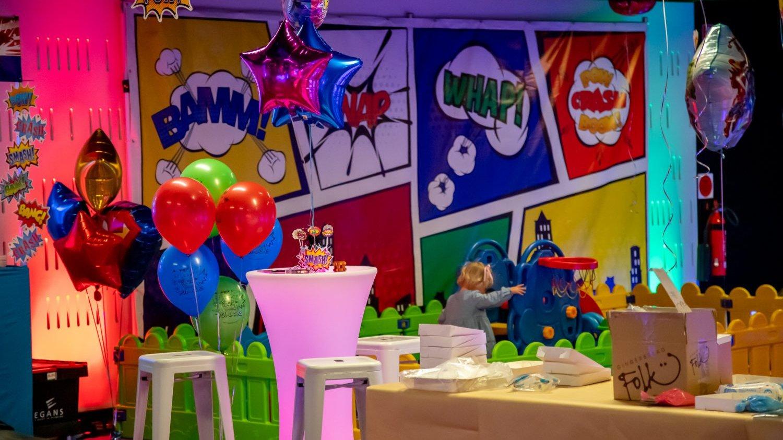 superhero kids party theme